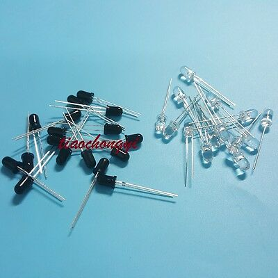 50pcs 3mm Ir Emitter 50pcs Receiver 3mm 940nm Ir Infrared Diode Led Lamp