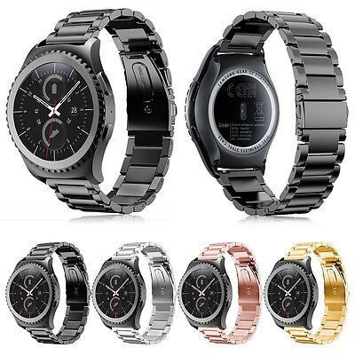 Stainless Steel Folding Clasp - Folding Clasp Solid Stainless Steel Watch band Strap For Samsung Gear S2 Classic