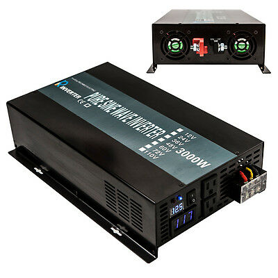 12V/24V/36V/48V DC to 120V/220V AC Pure Sine Wave 3000W Home Power Inverter