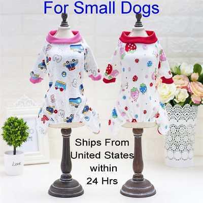 Pet Clothes Toy Dog Pajama Jumpsuit Soft Cotton Fleece Sleepwear Coat Boat -