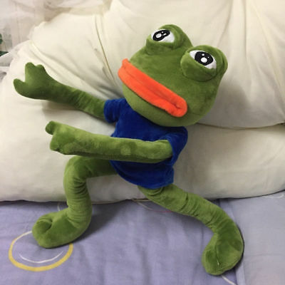18'' Pepe The Frog Sad Frog Plush 4chan Kekistan Meme Doll Stuffed Toy - Frog Toys