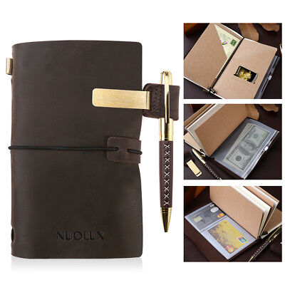 Handmade Leather Journal , Unlined Diary, Travel Notebook And Sketchbook US
