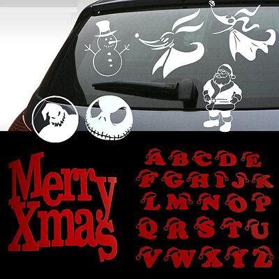 CHRISTMAS SNOWMAN SANTA NIGHTMARE Car Wall Window Decal Sticker Vinyl Decor - Christmas Wall