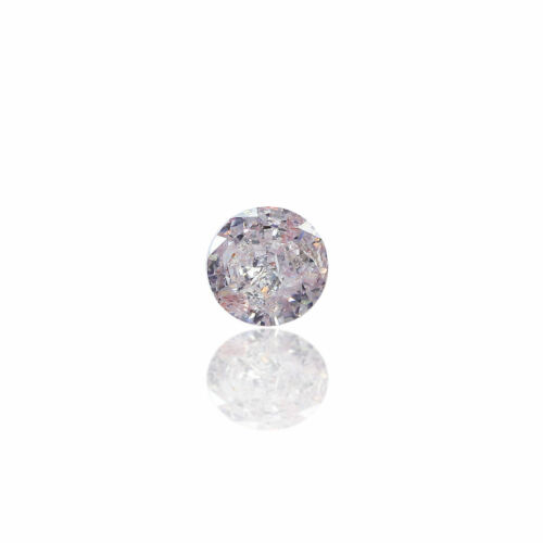 Pink Diamond Natural 0.25 Ct Fancy Very Light Color GIA Certified Round Cut