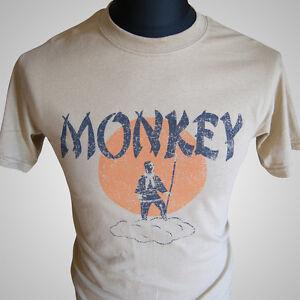 Monkey-Magic-Tan-TV-Themed-Retro-T-Shirt-Martial-Arts-Kung-Fu-Cult