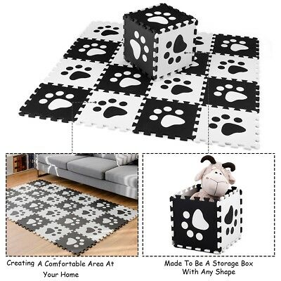24 Pieces Kids EVA Foam Mat Puzzle Office Soft Paw Interlocking Carpet Baby Play