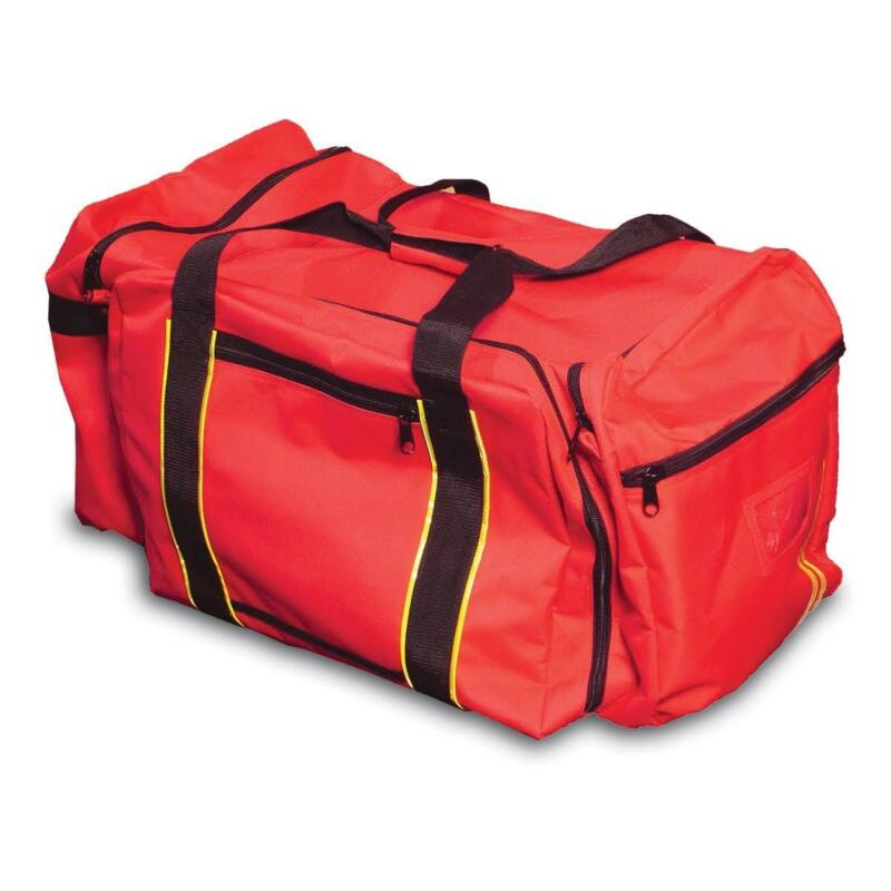 LARGE RED PPE GEAR BAG W/ REFLECTIVE STRIPES EQUIPMENT DUFFEL BAG NEW