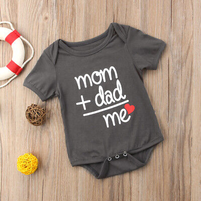US STOCK Newborn Baby Clothes Boy Girl Kids Bodysuit Funny Cute Kawaii Outfits](Outfits Girl)
