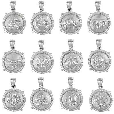Sterling Silver Zodiac Sign Charm   Pendant  Made In Usa