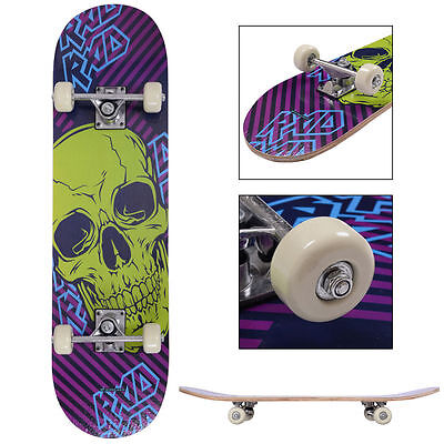 "31"" x 8"" Skateboard Longboard Complete PVC Wheel Trucks Maple Deck Wood Adult"
