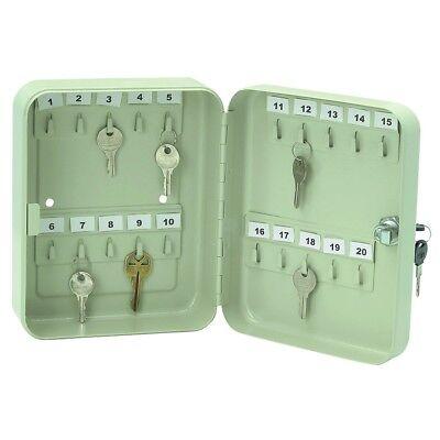 20 Hook Home Business Steel Wall Mount Key Lock Case Cabinet Storage Box Lockbox