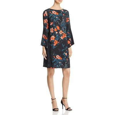 Lafayette 148 New York Womens Floral Bell Sleeves Daytime Shift Dress BHFO 3109