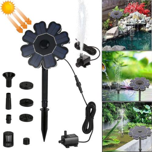 Solarpumpe Mit Akku Springbrunnen Garten Teich Brunnen Teichpumpe Wasserspiel