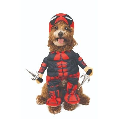 Deadpool Pet Costume Dog Cat Halloween Marvel X-Men Wade Wilson Ryan Reynolds - Deadpool Halloween Ryan Reynolds