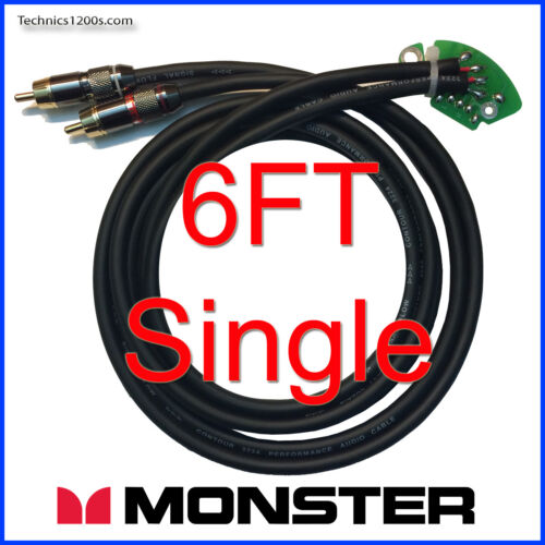 TECHNICS 1200 1210 RCA PHONO CABLES WITH MONSTER CONNECTS & INTERNAL GROUND PCB