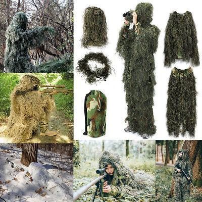 Adult Kids Woodland Sniper Camo Ghillie Suits 3D Jungle Forest Hunting Hide Suit](Kids Ghillie Suit)