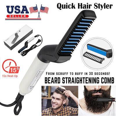 Hair Straightener Men Multifunctional Comb Curling Electric