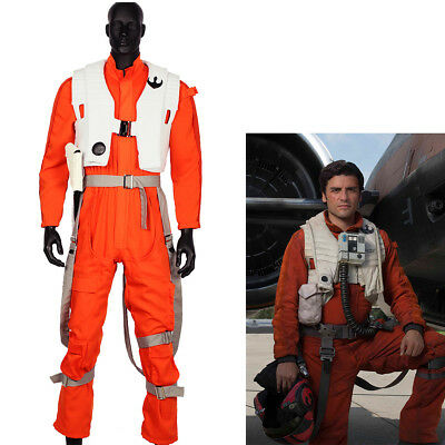 Poe Dameron Cosplay Costume Star Wars Jumpsuit Props Halloween Party Cool Men - Cool Halloween Party Costumes