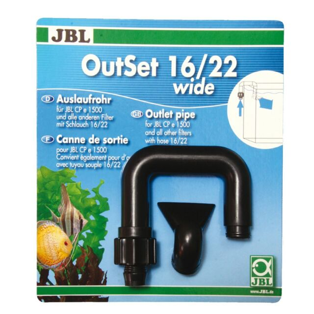 JBL OutSet wide - Wasserrücklauf-Set mit Breitstrahlrohr - 16/22 - CristalProfi