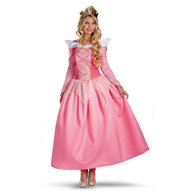AURORA Adult Deluxe Prestige Disney Costume Sleeping Beauty | Disguise 5959 (Disney Sleeping Beauty Adult Costume)
