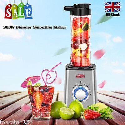 Sports Personal Blender 300W Smoothie Maker Food Juicer Shake Mixer + BPA Bottle
