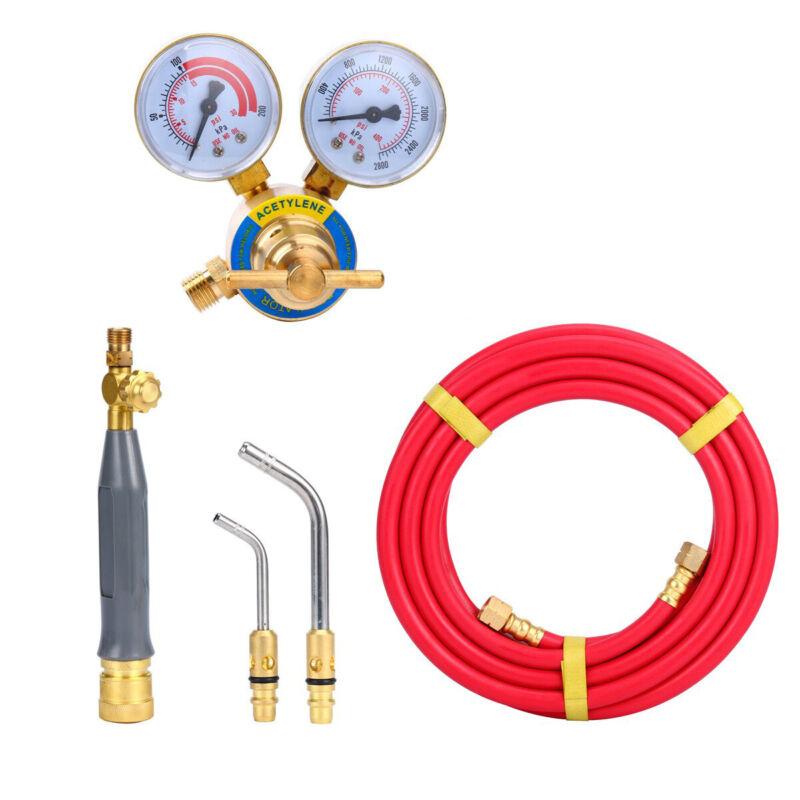 Air Acetylene Set Torch Kit Swirl +1 Acetylene Regulator CGA 200 Gas Welder NEW