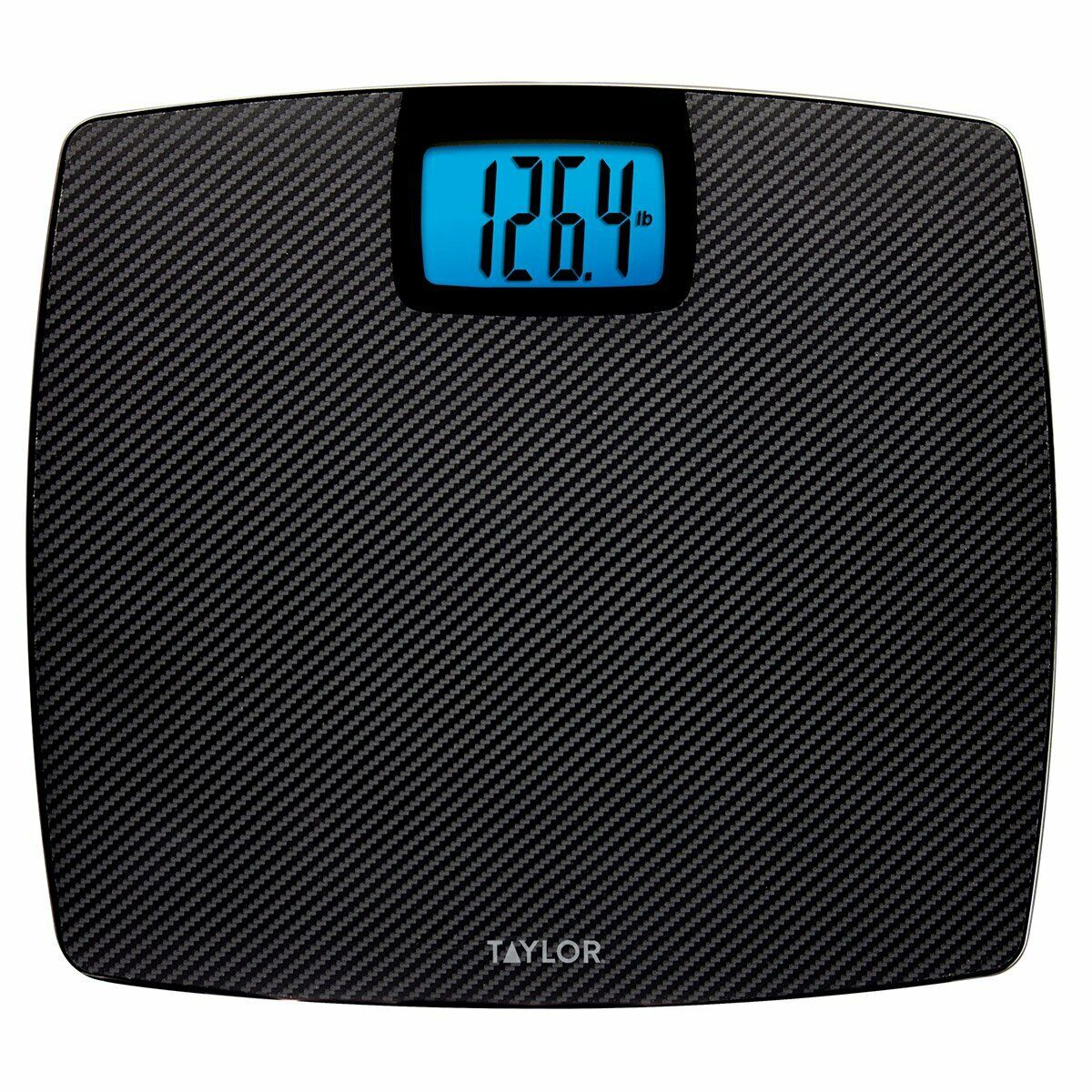 TAYLOR GLASS DIGITAL SCALE 500LB Capacity CARBON FIBER FINISH (NEW)