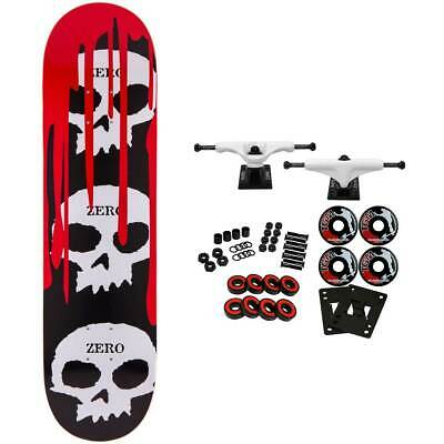 Zero Skateboard Complete 3 Skulls with Blood 8.0""