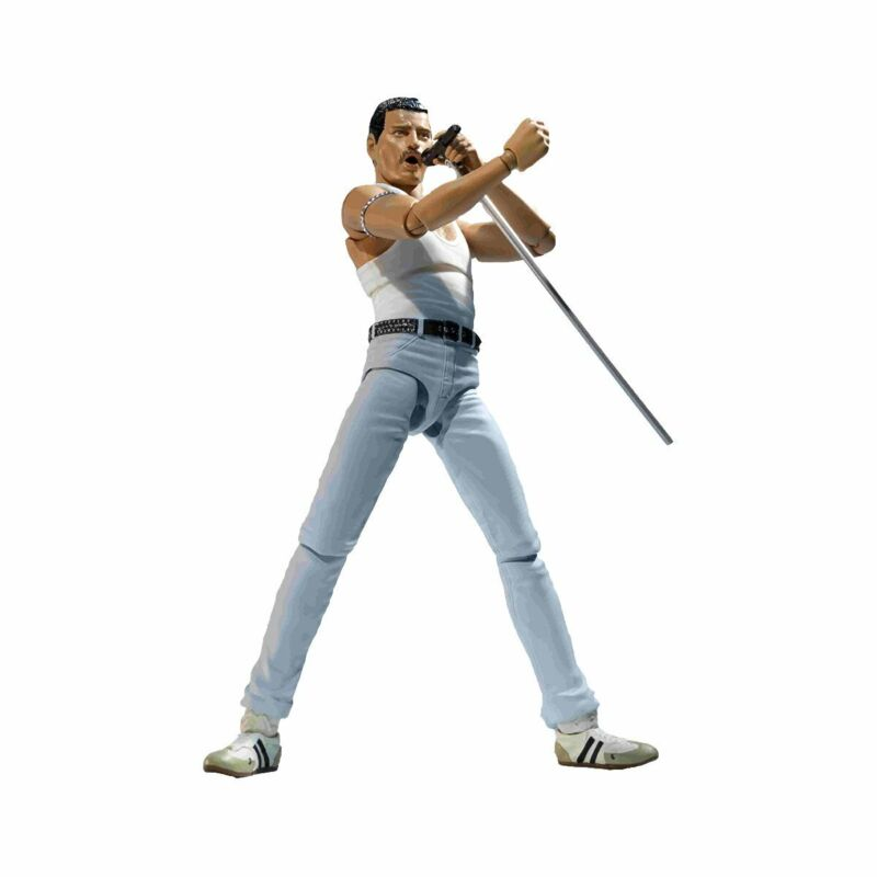 "Queen 2020 Bandai Freddie Mercury Live Aid SH Figuarts 5"" Figure In Stock"