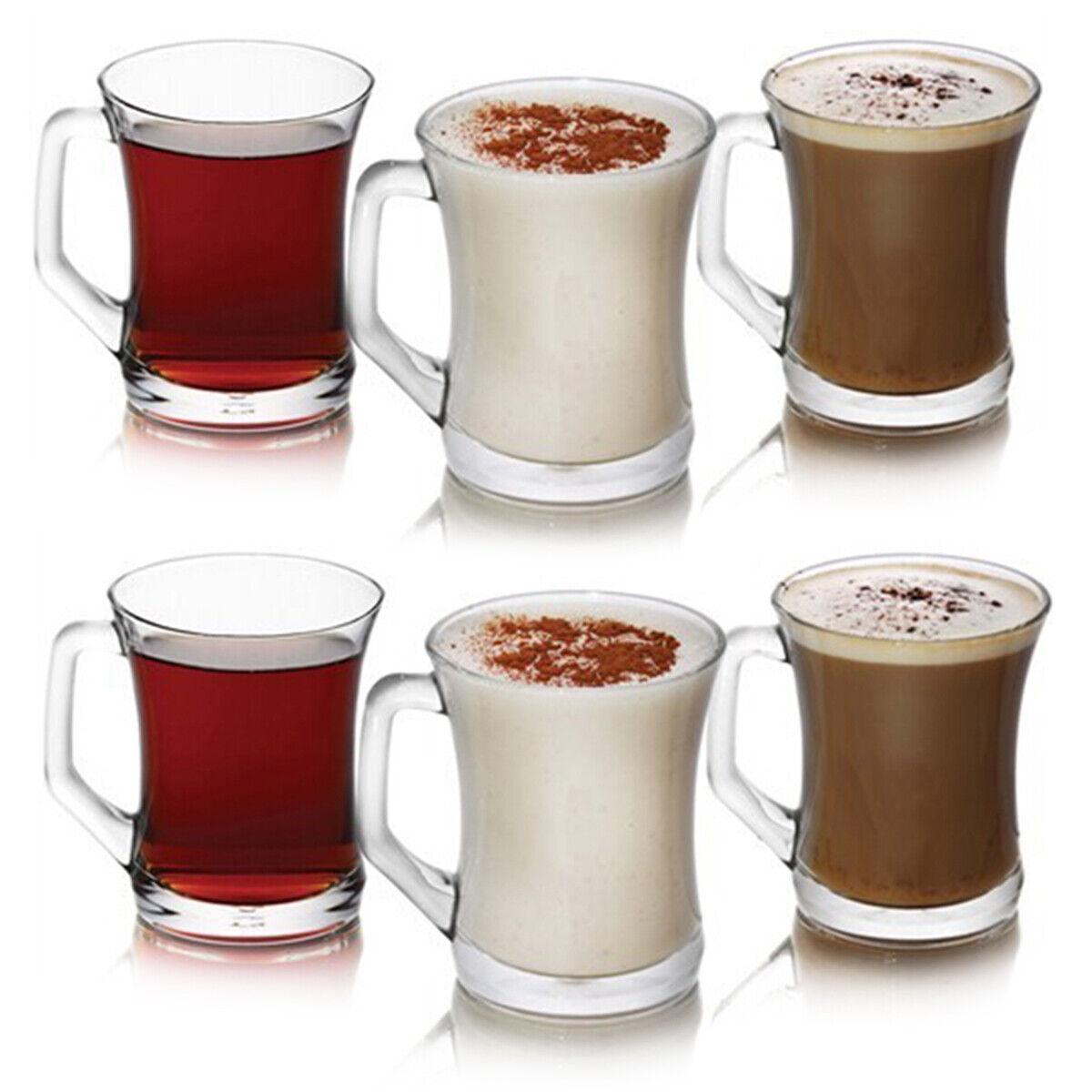 Tassen-Set aus hochwertiges Glas 225 ml ideal für alle Heißgetränke tlg LAV 12