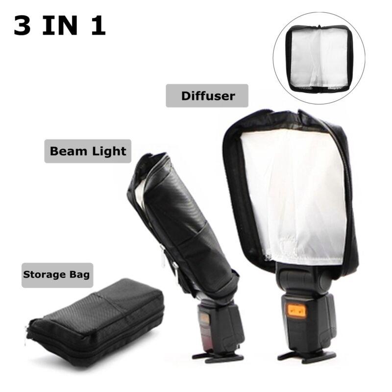3 in 1 Universal Mini Portable Softbox Diffuser for Flash Speedlite Speedlight