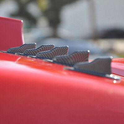 Universal EVO-Style ABS Roof Shark Fins Spoiler Wing Kit Vortex Generator 10pc
