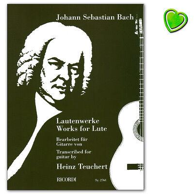 Sämtliche Lautenwerke - Johann Sebastian Bach - Ricordi - SY2761 - 9790204227617