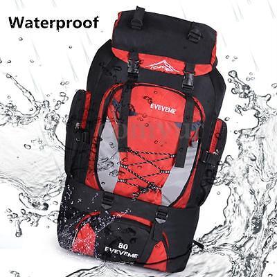 Borsa Backpack Zaino impermeabile Luggage Bag Per Campeggio Corsa Trekking 80L