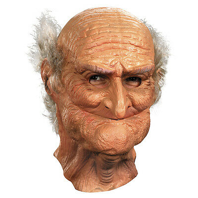 Male Oldie Old Man Adult Vinyl Full Costume Mask | Disguise 10490