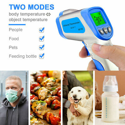 Digital Non-contact Ir Thermometer Human Forhead Infrared Cooking Thermometer