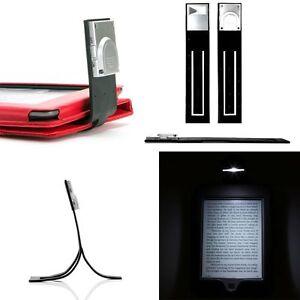 noir led mince lampe de chevet pour amazon kindle touch kobo ou sony liseuse ebay. Black Bedroom Furniture Sets. Home Design Ideas