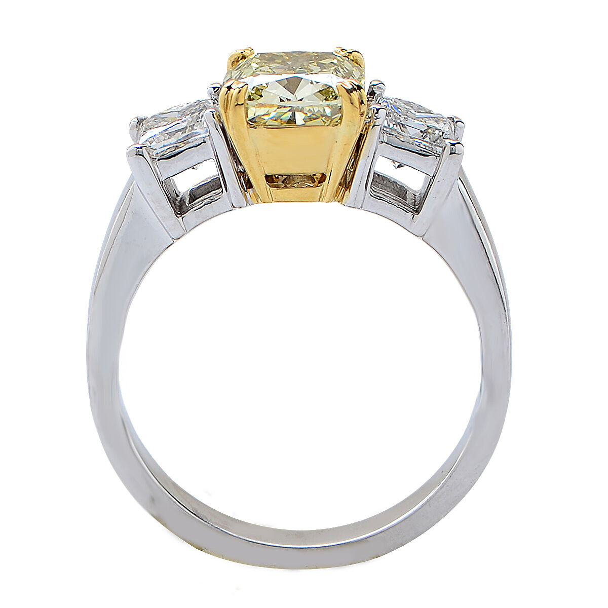 Beautiful GIA Certified Natural Fancy Color Yellow Diamond Engagement Ring 2