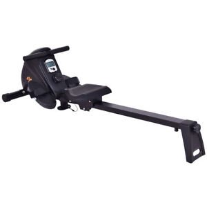 Magnetic Folding Rowing Machine Rower Exercise Cardio Fitness w/ LCD Monitor