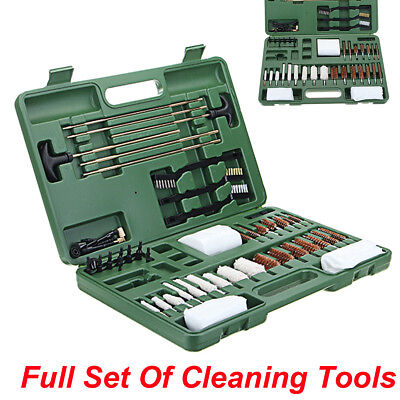 62pcs Universal Gun Cleaning Kit Copper Brush and Pipe Cleaning Brushes Cotton