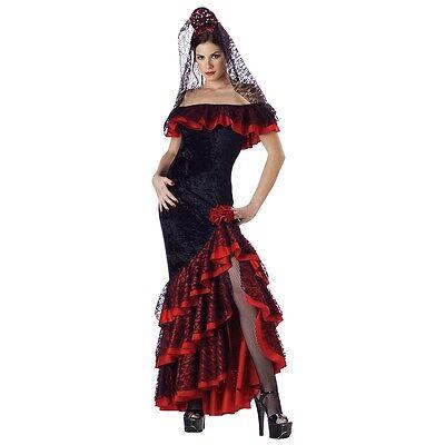 Flamenco Dancer Costume Adult Senorita Halloween Fancy - Halloween Dancer Costumes