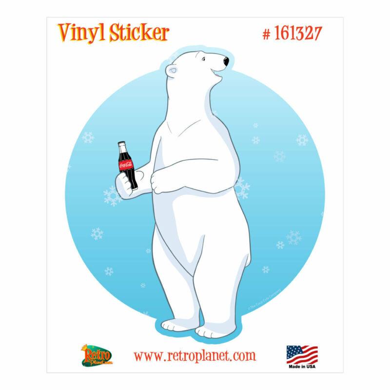 Coca-Cola Polar Bear Standing Vinyl Sticker
