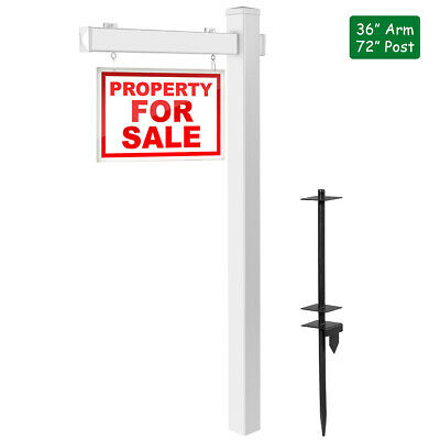 6 Upvc Real Estate Sign Post Open House Yard Home For Sale White Wstake