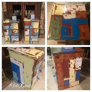 Solid boat wood style large  bedside tables Meridan Plains Caloundra Area Preview