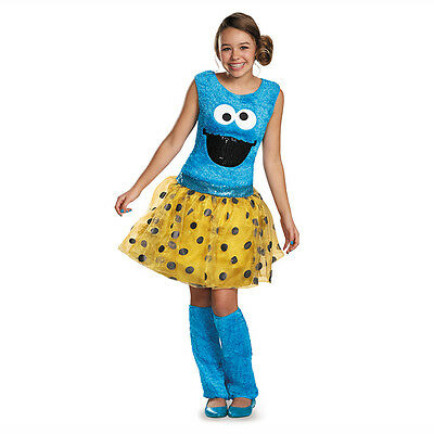 Tween Sesame Street Costumes (Sesame Street Cookie Monster Deluxe Tween Child Costume Disguise)