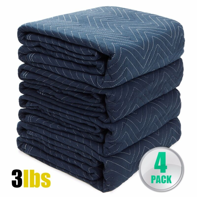 4PC Bundle Moving Blankets Pack Professional Quilted Moving Pads for Packing