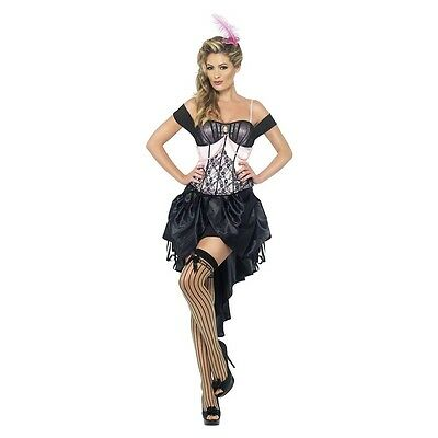 Can Can Costume Adult Burlesque Dancer Saloon Girl Halloween Fancy Dress (Can Costumes)