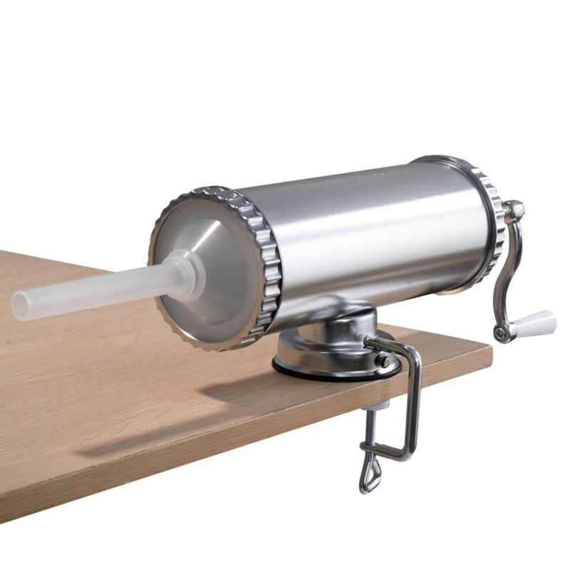 Manual Sausage Stuffer Maker 3L Meat Filler Machine w/ Suction Base Commercial