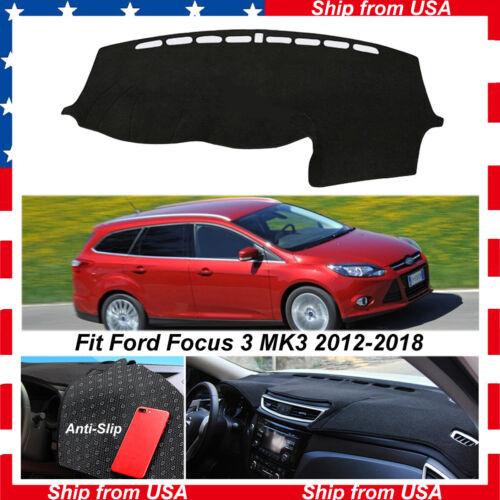 Car Dash Sun Cover Dashboard  Mat Carpet Pad for Ford Focus ST Series