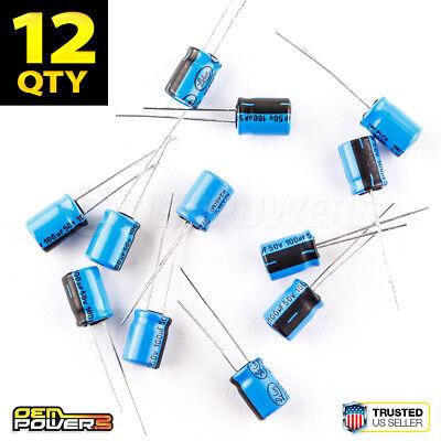 12 X Lelon 100ufmfd 50v 20 85c Radial-lead Electrolytic Capacitor 2721044 New